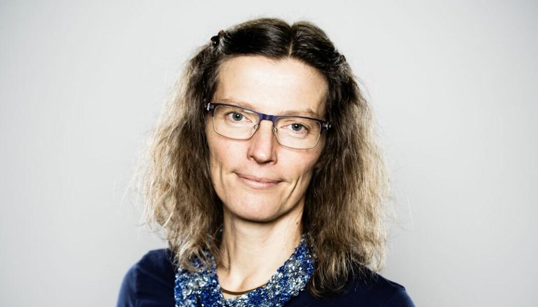 Professor Anne Sverdrup-Thygeson mener det er viktig å følge med på insektene våre. (Foto: NMBU)