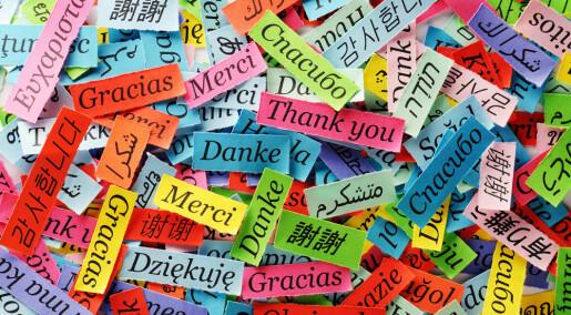 Språkene er naturlig lykkelige