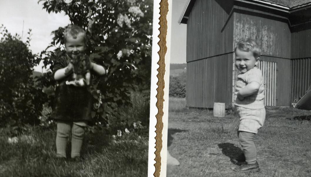 Arne Asphjell fikk et alvorlig tilfelle av kikhoste som baby. Moren fryktet at han kom til å dø. Men Arne overlevde. Bildene er tatt seinere i barndommen. (Foto: privat)