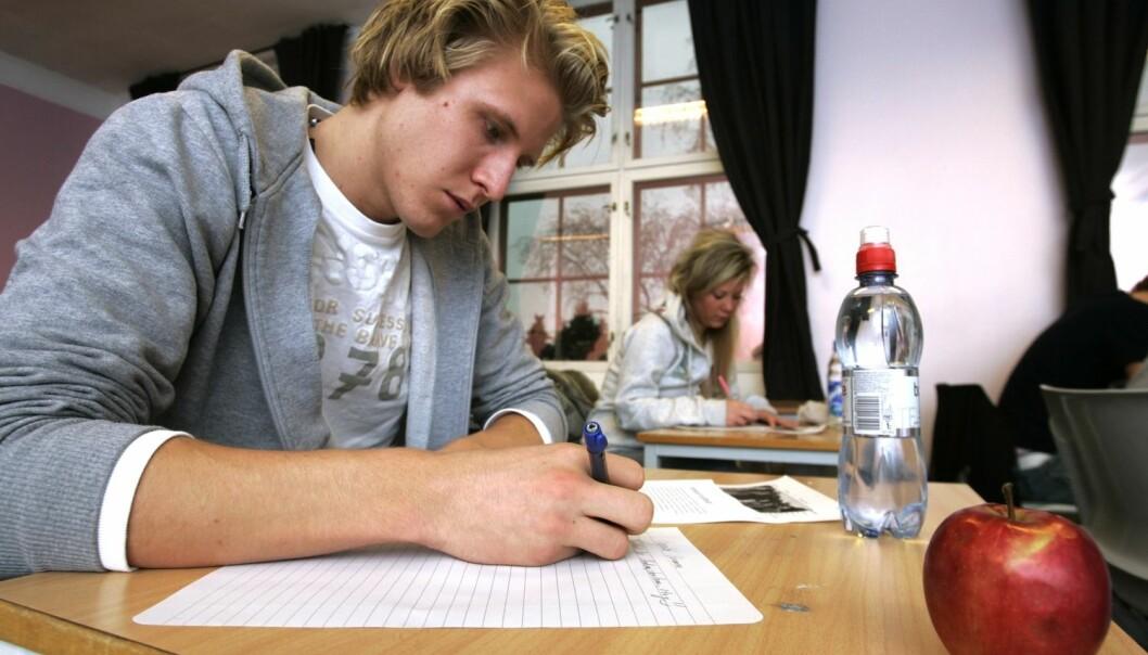 Jo høyere en elev scoret på personlighetstrekket «samvittighetsfull», desto bedre var karakterene. (Foto: Bjørn Sigurdsøn, NTB scanpix)