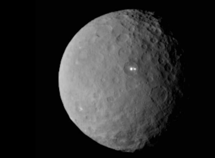 Dvergplaneten Ceres sett fra NASAs romsonde Dawn for en uke siden. (Bilde: NASA/JPL-Caltech/UCLA/MPS/DLR/IDA)