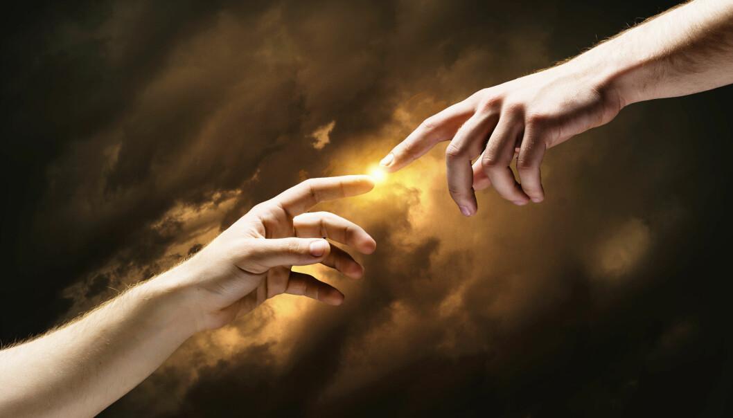 Har mennesket utviklet seg fra tidligere stadier av dyr – eller har vi blitt skapt i Guds bilde? Alle vitenskapelige fakta tyder på det første. Kreasjonistene tror det siste.  (Foto: Colourbox)