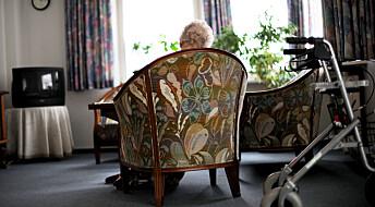 Vil beholde eldre hjemme, men bruker ressursene på sykehjem