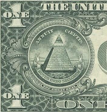 Noen mener at symboler som er trykt på dollarseddelen, beviser at Illuminati styrer USA.