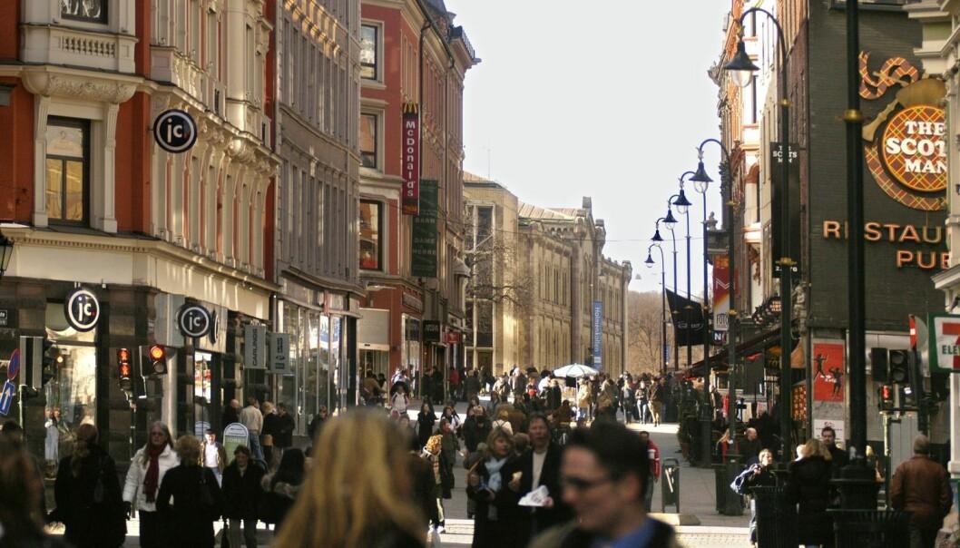Folk er antakelig mer produktive når de bor i byer, enn når de bor utenfor byer. Men hvorfor er det slik? Norge egner seg spesielt godt som laboratorium for forskere som vil undersøke dette.  (Foto: Scanpix, Jens Sølvberg)