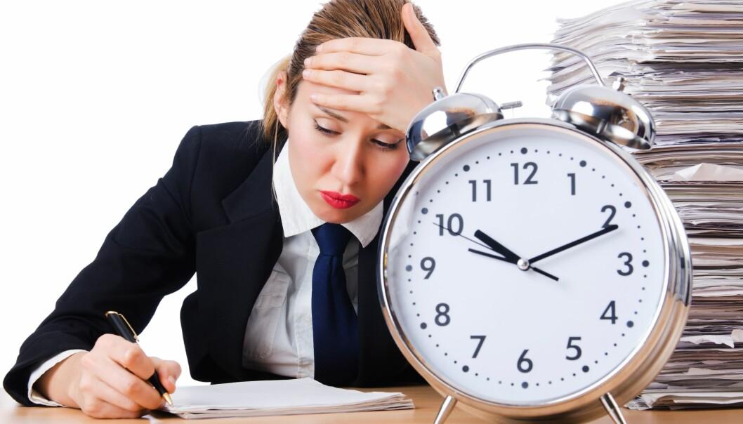 Hvor lang tid vi trenger på en oppgave, anslår vi veldig ulikt, avhengig av hvilke føringer vi får av oppdragsgiver.  (Illustrasjonsfoto: Colourbox)