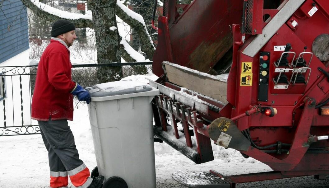 De som håndterer avfallet vårt, har de mest tilfredse brukerne blant de offentlige tjenestene. (Foto: Espen Bratlie, Samfoto)