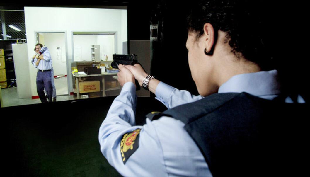Action, ikke akademia, tiltrekker seg politistudentene. (Arkivfoto: Sveinung Uddu Ystad, Politihøgskolen)