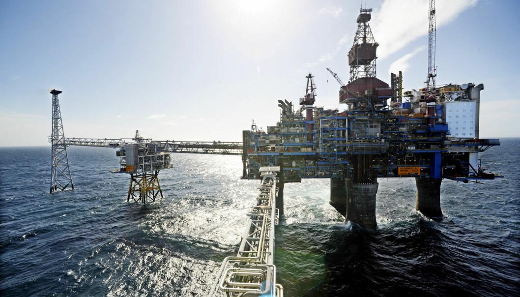 Under Sleipner-plattformen i Nordsjøen er det lagret CO2 i grunnen lenger enn noe annet sted i verden. Ny kunnskap kan gjøre lagringen sikrere i fremtiden. (Foto: Marit Hommedal, NTB scanpix)