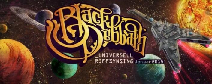 """""""Universell riffsynsing"""" er tittelen på det nye albumet fra Black Debbath. (Platecover)"""