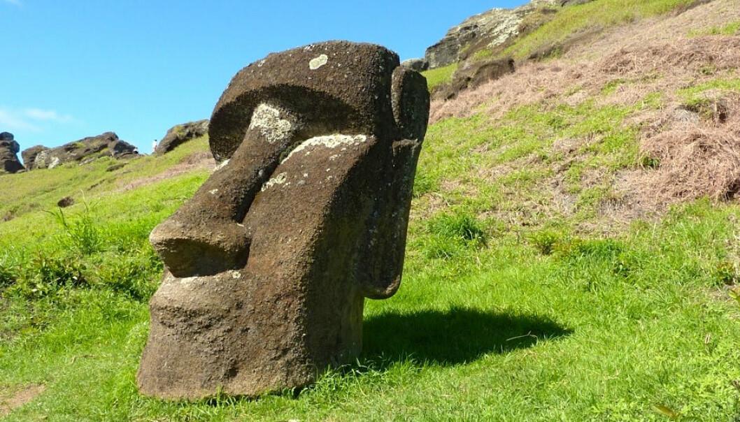 Folk på Påskeøya laget disse enorme statuene mellom år 1250 og 1500. (Foto: UCSB)