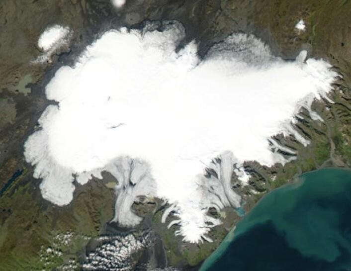 Vatnajökull, den største isbreen på Island. (Foto: Offentlig eiendom)