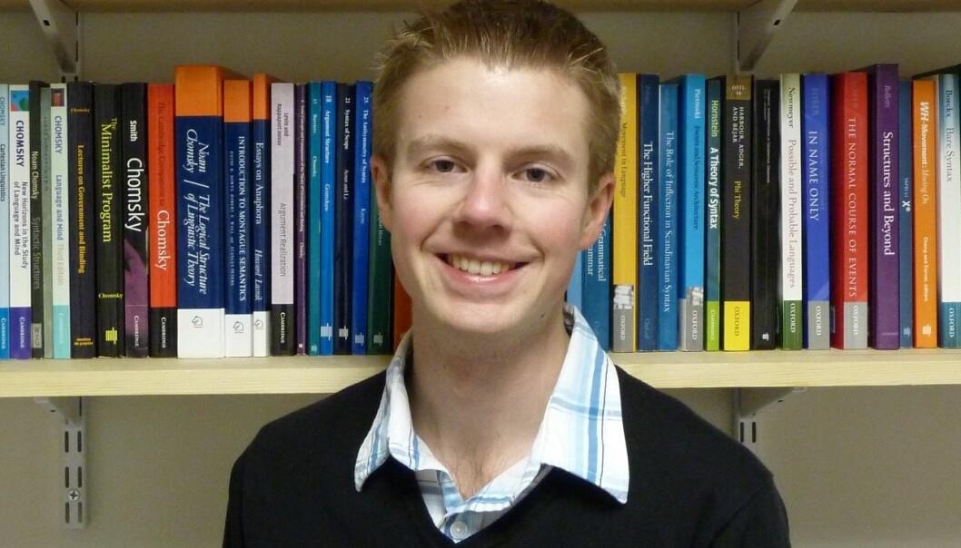 Terje Lohndal anbefaler en språkvitenskapelig klassiker. Selv er han professor i lingvistikk på NTNU.  (Foto: privat)