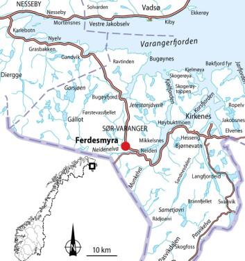 Ferdesmyra i Øst-Finnmark. (Foto: (Kart: NINA))