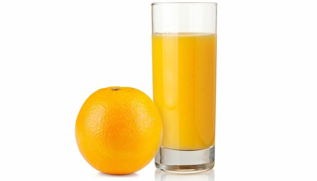 Hva bør du velge, juice eller helst appelsin? (Foto: Colourbox)