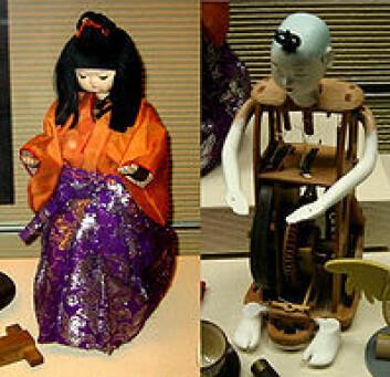 En karakuri-dukke som serverer te, også sett innenfra. Dukken, som er fra 1800-tallet, står utstilt på National Museum of Nature and Science i Tokyo. (Foto: National Museum of Nature and Science, Tokyo)