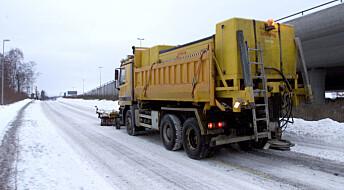 Mindre salt på veien kan gi flere ulykker og tregere trafikk