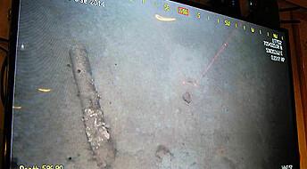 Finner gamle bomber og granater på havbunnen