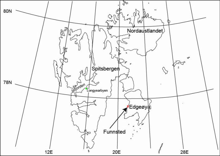 Funnstaden på Edgeøya.
