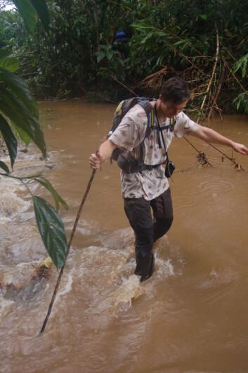 Det er vått i regnskogen. (Foto: Erik Tunstad)