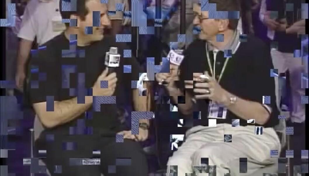 Når videobildet ser ut som et lappeteppe kalles det blokker. Dette skjer i komprimeringen av bilder, som gjøres for å få mindre filstørrelse og raskere overføring. Siden komprimeringen går ut på å fjerne overflødig informasjon, kan det oppstå uregelmessigheter når dette gjøres blokkvis. Forskningen viser at vi er mindre tålmodige med slike forstyrrelser enn andre typer kvalitetstap.   (Foto: streaminglearningcenter)
