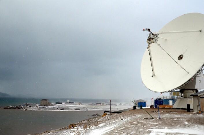 Kartverkets eksisterende geodetiske jordobservatorium skal drives inntil det nye observatoriet er i full drift i 2018.  (Foto: Helge M. Markusson, Framsenteret)