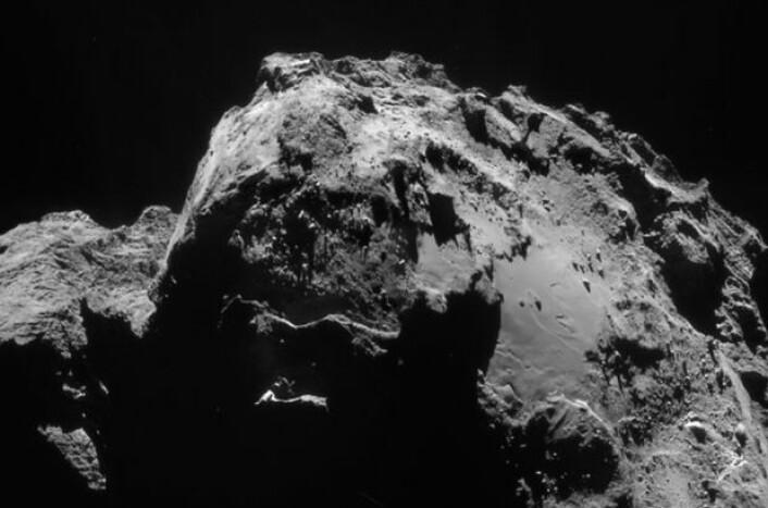 Komet 67P sett fra Rosetta 3. januar. (Bilde: ESA/Rosetta/NAVCAM)