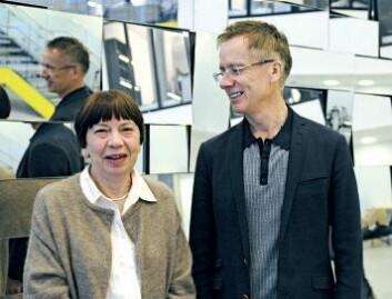 Anna Mette Fuglseth og Øystein Sørebø. (Foto: Torill Sommerfelt Ervik, NHH)