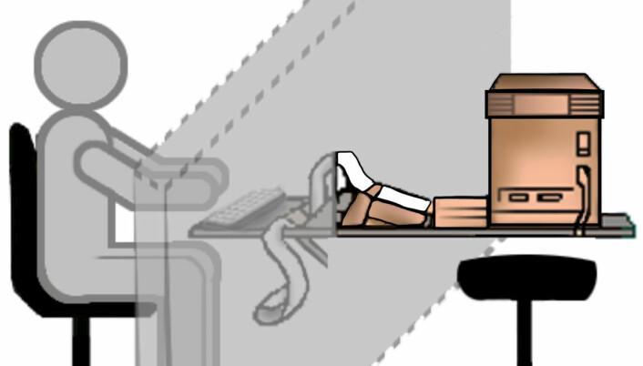 Turingtesten: Et menneske kommuniserer med en datamaskin via tekst. Flere forsøkspersoner må delta i testen. Hvis mer enn 30% av menneskene ikke kan avgjøre om de kommuniserer med en maskin eller et menneske, har maskinen bestått Turingstesten. (Foto: (Figur: Mushii, Creative Commons Attribution 3.0 Unported license))