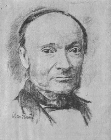 Ivar Aasen (1813-1896). Portrett av Olav Rusti. Kjelde: Wikimedia Commons.