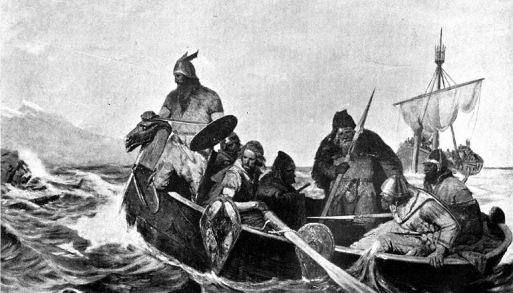 Vikinger fra Trøndelag dro tidligere antatt på langferd til De britiske øyer, viser nye gravfunn. - Kontakten innebar langt mer enn ufredelige plyndringstokter. Drikkehorn og sverd ble for eksempel ansett som passende alliansegaver, og funn av skålvekter vitner om handelsvirksomhet, sier Aina Margrethe Heen Pettersen. Oscar Wergeland/Wikipedia Commons