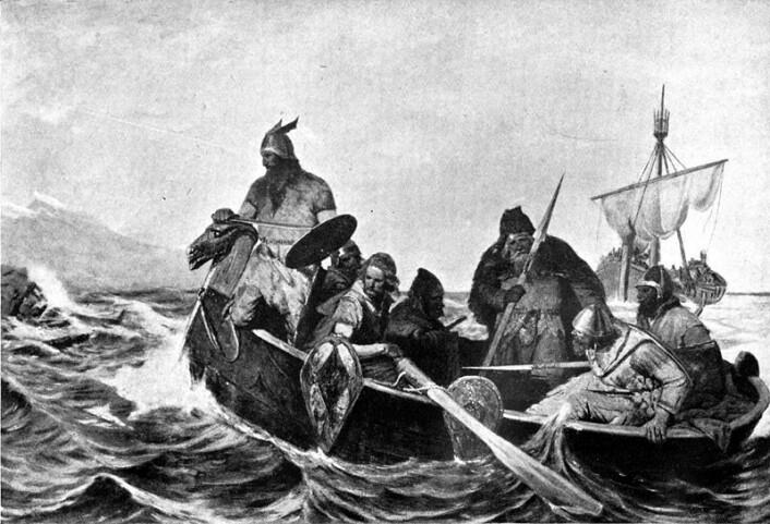 Da danske vikinger erobret England, satte de avtrykk i språk og stedsnavn. Engelskmennene satt også markante avtrykk på de byene og den kristne religionen som utviklet seg i middelalderens Danmark. (Foto: Oscar Wergeland/Wikipedia Commons)
