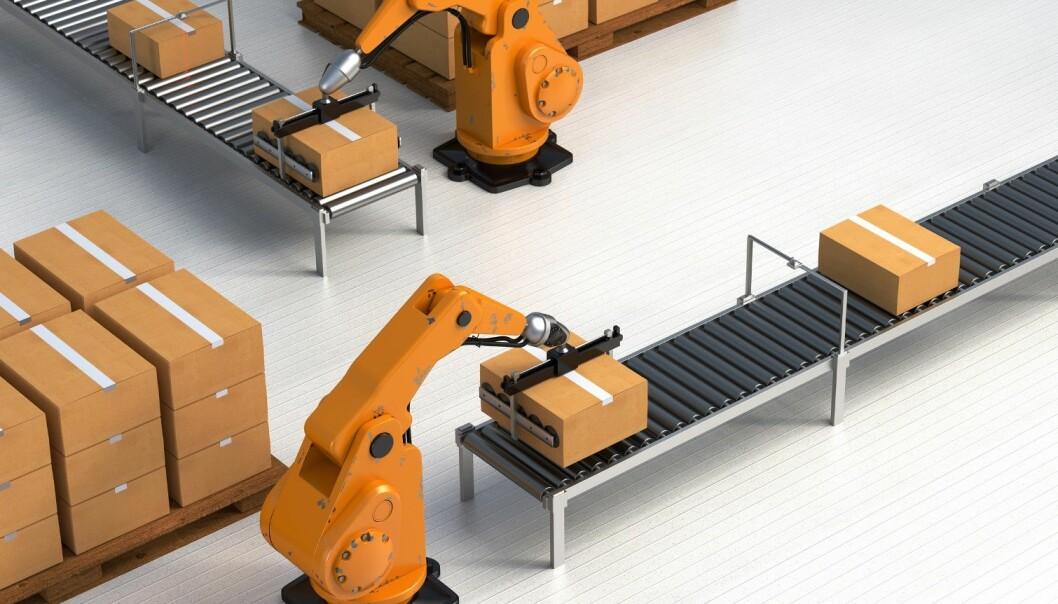 Arbeidsdagen på lageret blir smartere. Ved hjelp av ny teknologi kan varene selv registrere når de kommer og drar fra lageret. (Foto: Microstock)