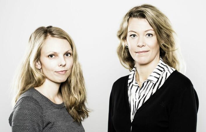 Hilde Mellegård (forsker) og Marina Aspholm (førsteamanuensis) er begge ansatt ved Institutt for mattrygghet og infeksjonsbiologi ved NMBU Veterinærhøgskolen i Oslo.  (Foto: Gisle Bjørneby, NMBU)