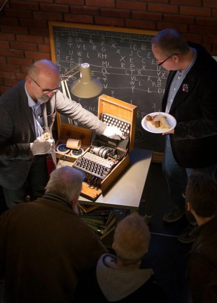 Enigmamaskin. (Foto: Fredrik H. Juell)