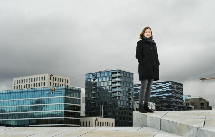 Forsker Heidi Bergsli har studert Fjordby-prosjektet i Oslo og sammenlignet med prosjektet Euromediterranée i Marseille, og er ikke i tvil om hvilket som er mest vellykket.   (Foto: Benjamin A. Ward, HiOA)