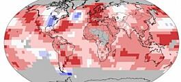 Hvor blir 2014 et rekordvarmt år?