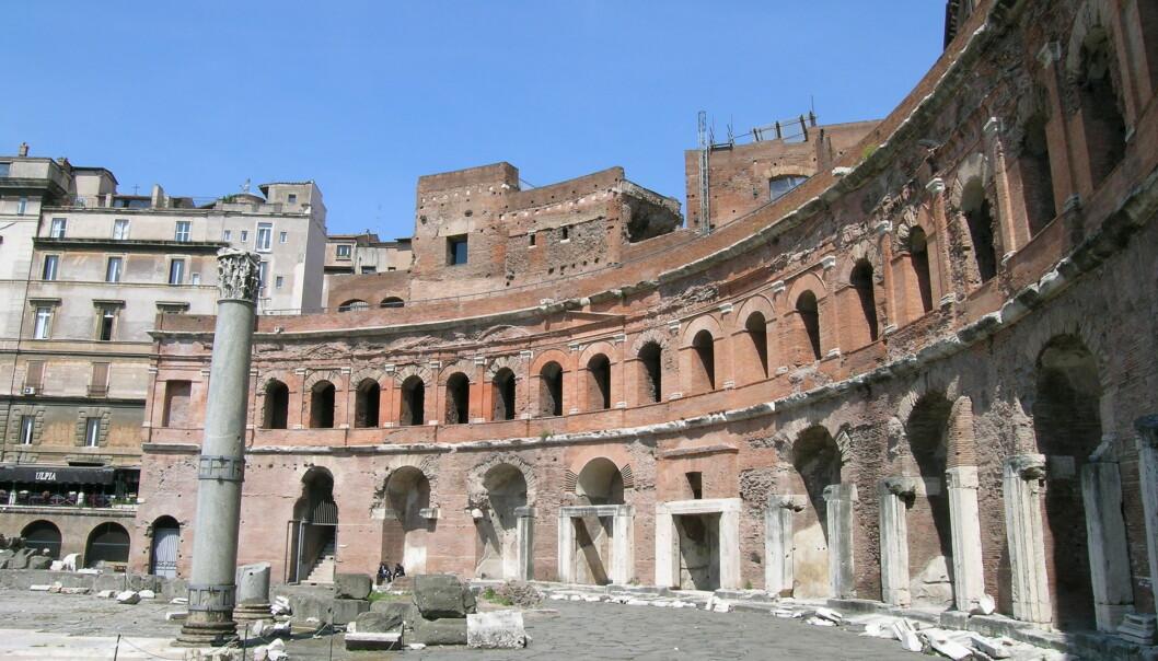 Trajans Market i Roma. Bygget er fra rundt 100 e.Kr. (Foto: Zello/Offentlig eiendom)