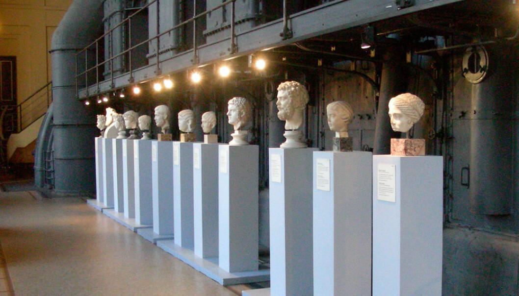 Ved Musei Capitiolini Centrale Montemartini i Roma stilles klassiske romerske byster ut i et gammelt kraftverk. (Foto: MM, Wikimedia Commons)