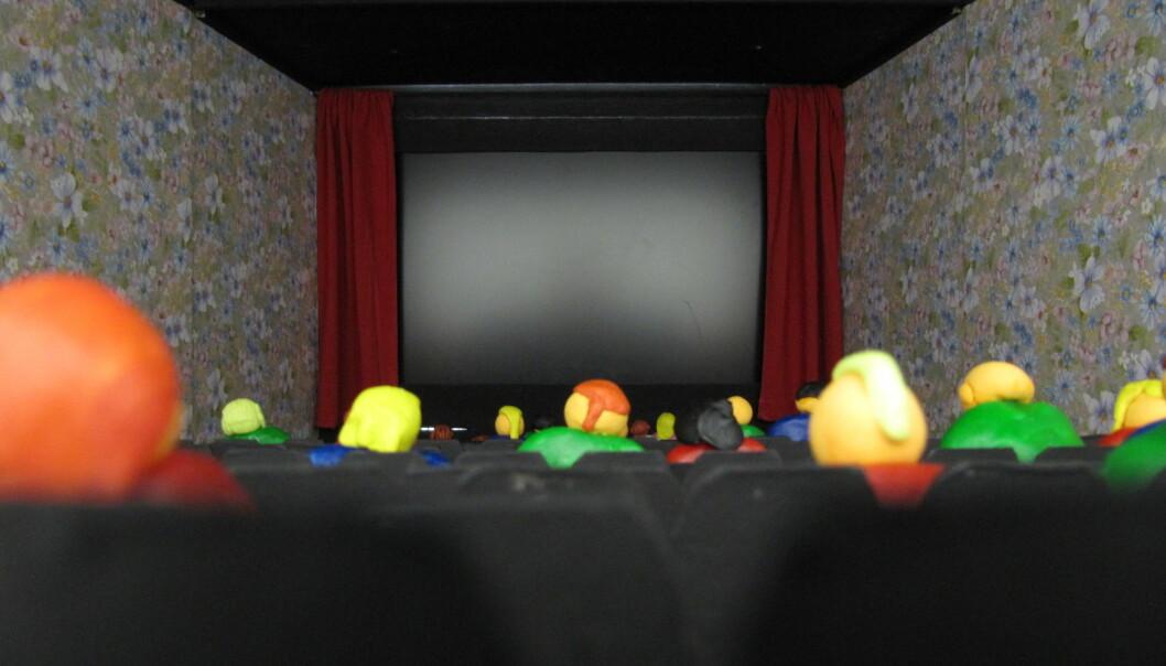 Kinomiljøet har meir å seie for filmopplevinga enn skjermstorleiken. Slik såg det ut for sjåarane som fekk filmen servert på miniatyr-kino med ein PC-skjerm i staden for lerret. (Foto: Andreas Baranowski)