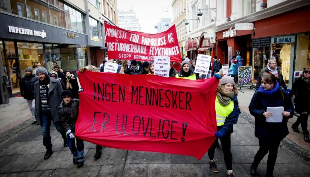 - Innvandring er et krevende tema, men et veldig viktig tema. Verden er på vandring, det er store migrasjonsstrømmer. Hvordan nasjonalstaten, velferdssamfunnet og vi alle skal forholde oss til det, er et viktig spørsmål både for storsamfunnet og for migrantene selv, sier forsker Kjersti Thorbjørnsrud.  (Foto: Kyrre Lien, Scanpix)
