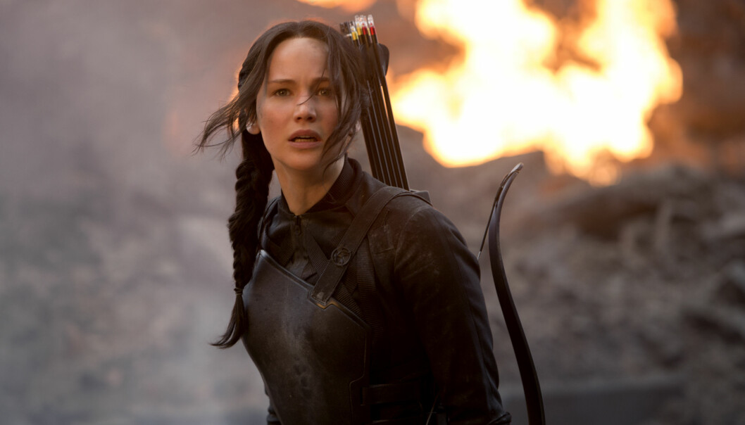 Et ferskt eksempel på kvinne i sterk hovedrolle: Jennifer Lawrence som Katniss Everdeen i «The Hunger Games: Mockingjay - Part 1». (Foto: Lionsgate)