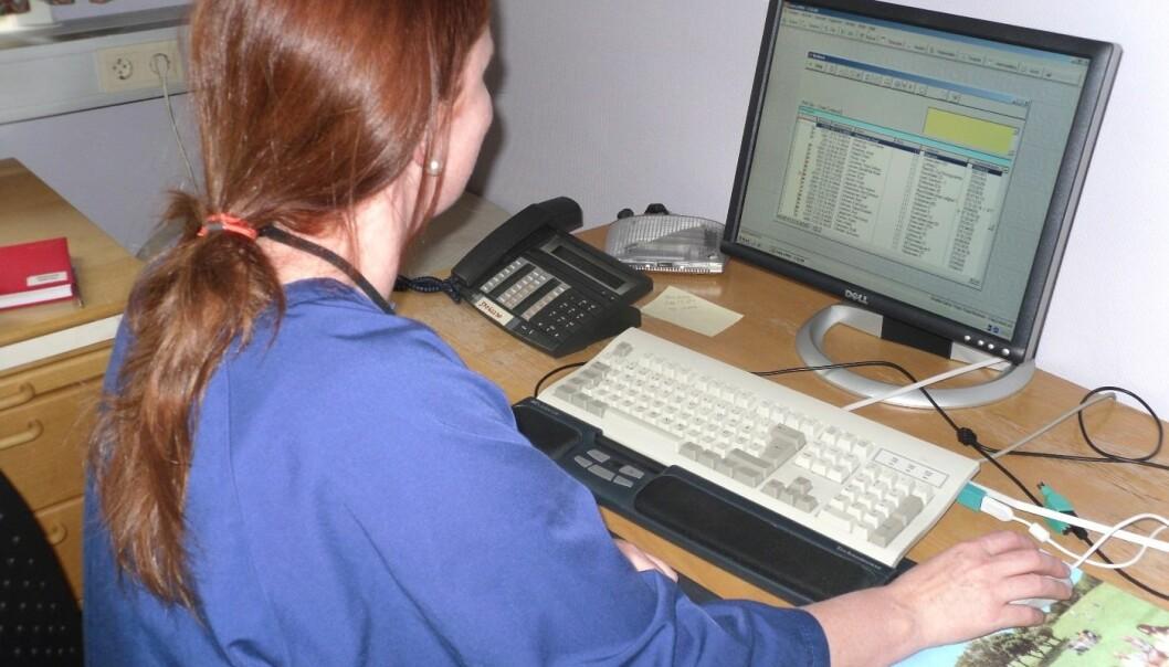 Hjemmesykepleierne mener de blir tatt mer på alvor etter e-meldinger ble innført. (Foto: Line Melby)