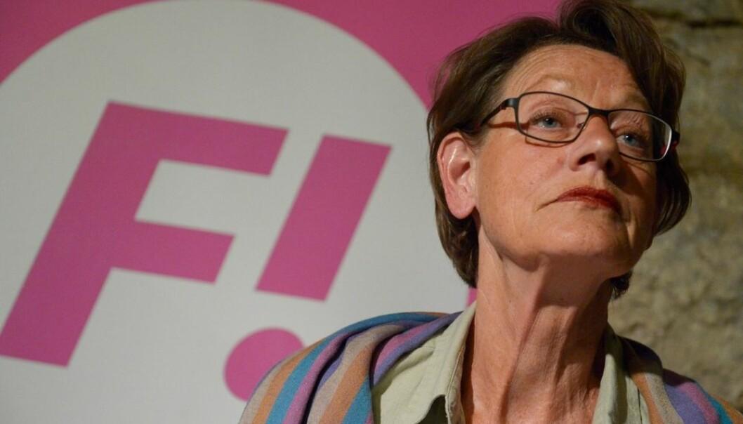 Feminisme har gått fra å være et skjellsord til å være et honnørord. I Sverige er det nå nærmere 50 prosent som kaller seg feminister. Gudrun Schymans parti Feministisk Initiativ fikk 5,49 prosent av stemmene I Europaparlamentsvalget 2014.  (Foto: Jan Erik Henriksson/ Scanpix)