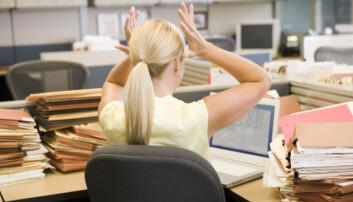 De fleste tåler stress godt, men dersom vi er utsatt for mye stress over lang tid, kan det medføre helseproblemer. (Illustrasjonsbilde: Colourbox)