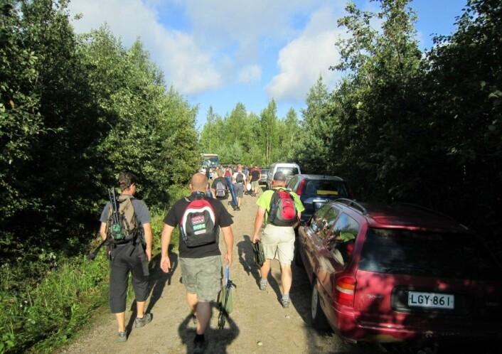 En gåtur inn I skogen, Rally Finland 2010. (Foto: Privat)