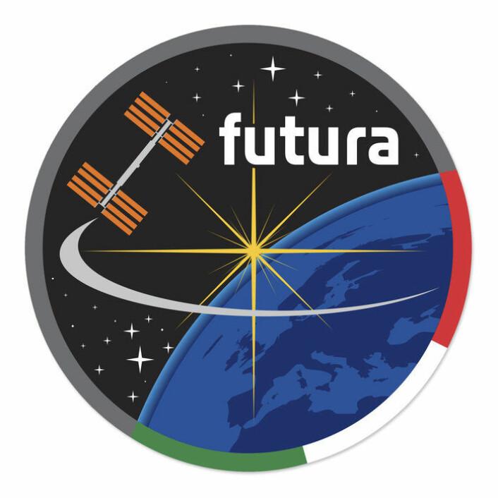 Logoen til Futura, Samantha Cristoforettis oppdrag i rommet for ESA og den italienske romorganisasjonen ASI. (Foto: ESA/ASI/V. Papeti)