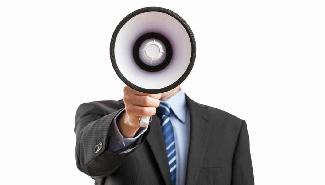 Du kan høre når noen med makt snakker, mener forskere.  (Foto: Microstock)