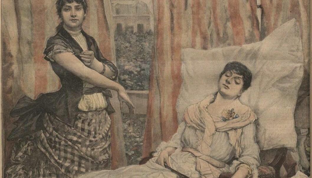 Morfinavhengighet på 1800-tallet var et utbredt problem, men det finnes lite dokumentasjon på hvordan rusavhengige ble behandlet i Norge.  (Arkivfoto: Nationalbiblioteket i Frankrike/Wikimedia)