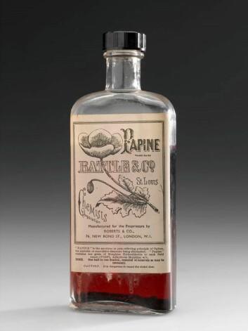 Papine, et stoff man finner i opiumsvalmuer, ble brukt som smertestillende og var tilgjengelig på apotek.  (Arkivfoto: Wellcome images/Wikimedia)